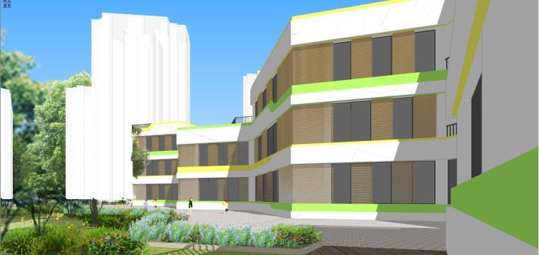 现代幼儿园学校建筑模型设计