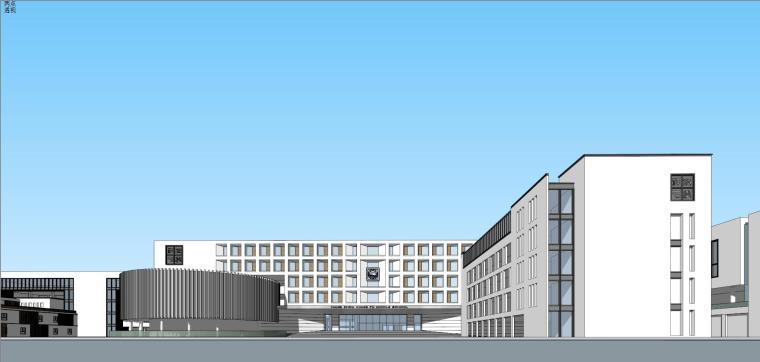 [浙江]现代风格中学建筑模型设计 (2)