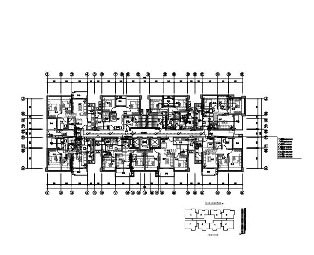 DS-01-55 E栋三单元电力照明平面图 Model