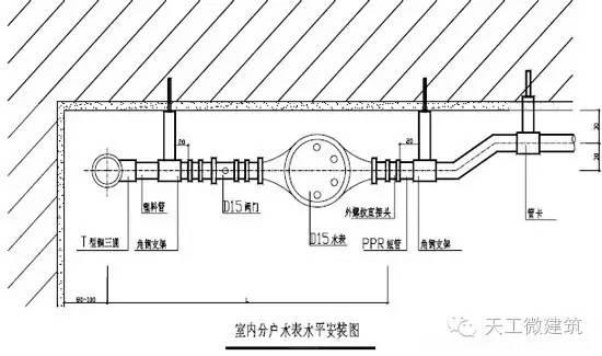万科室内给水排水管道节点图做法大全_23