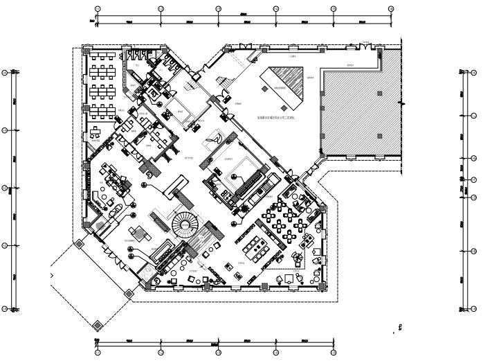 沣东绿地新里城售楼处装修施工图+效果图
