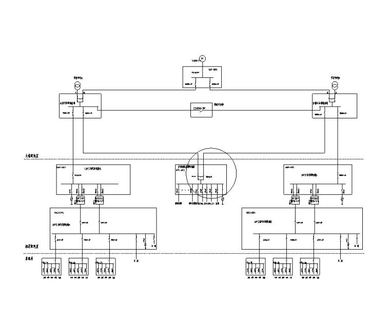 医用气体机房设计资料下载-山东3层机房电气施工图