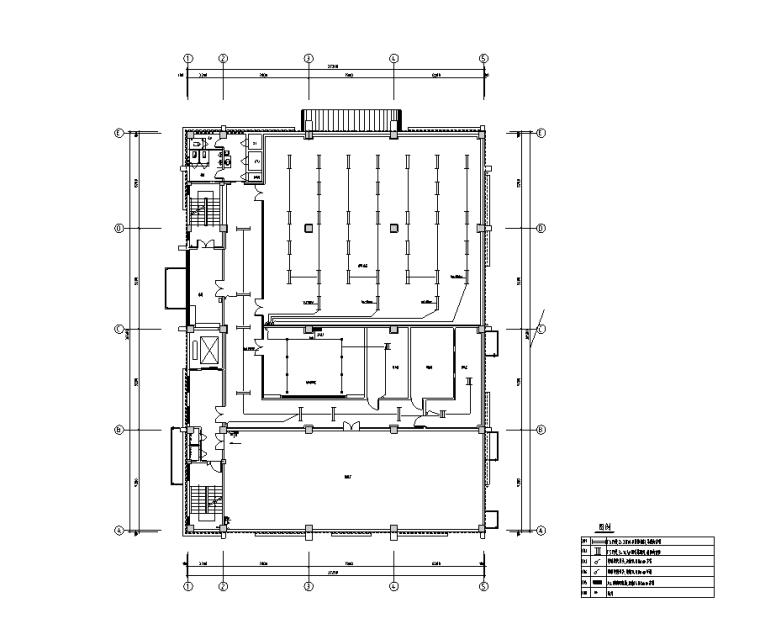 二层机房照明配电平面图