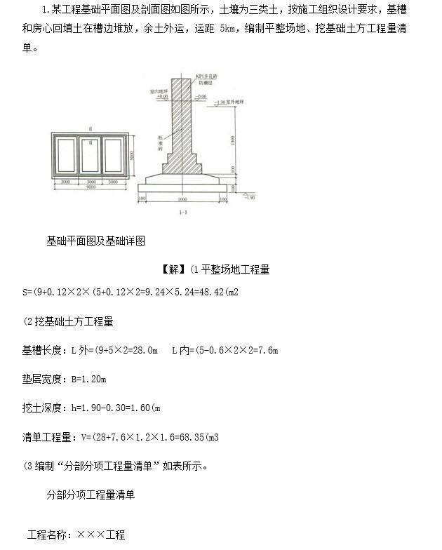 工程量清单计价实例(doc格式)