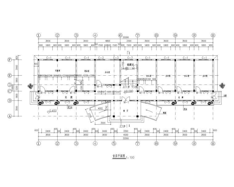 某三层办公楼砖混结构施工图(CAD含建筑图