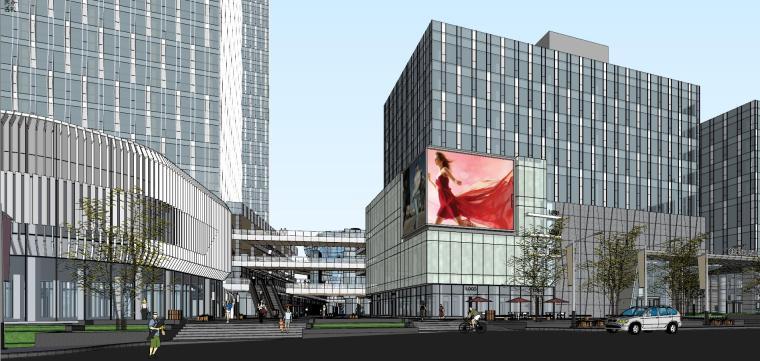 南宁万象城模型资料下载-[广西]南宁现代风格商业综合体建筑模型