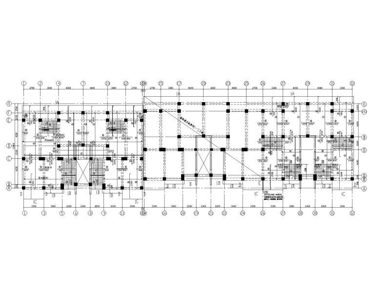 某混凝土框架结构二次结构施工图(CAD)