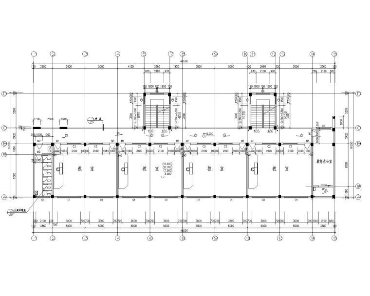 6层教学楼混凝土结构施工图(CAD含建筑)