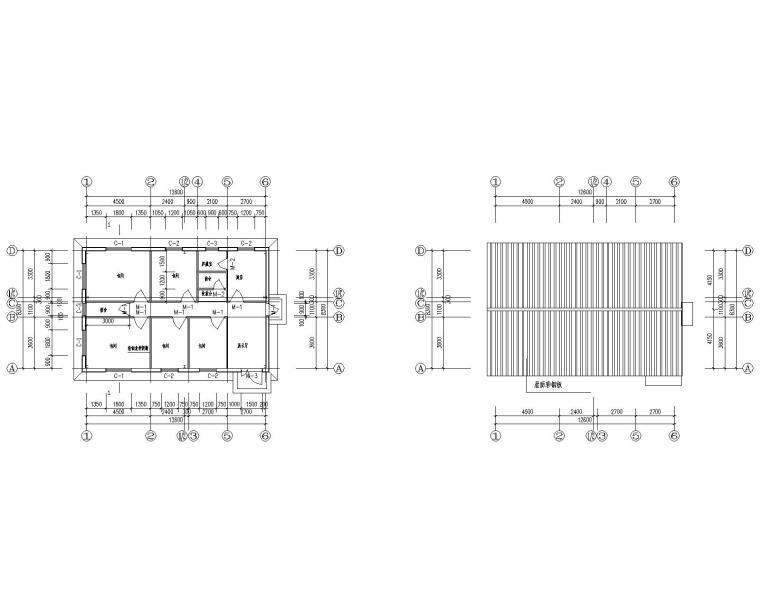 某小型钢结构餐厅施工图(CAD含建筑图)