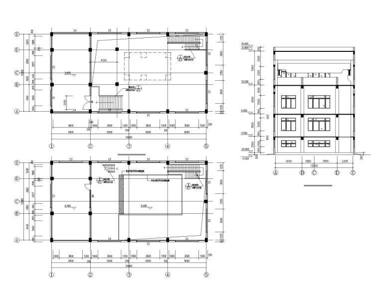 某公司发电机厂房混凝土结构施工图(CAD)