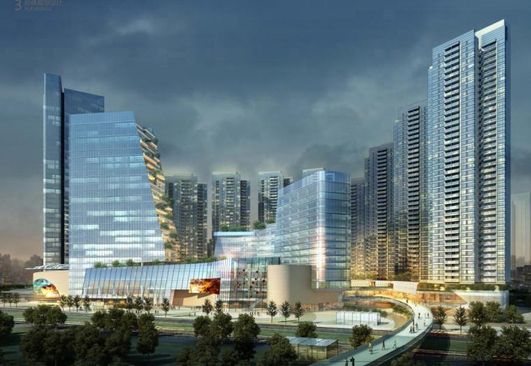 [广东]现代风格综合体概念规划建筑方案