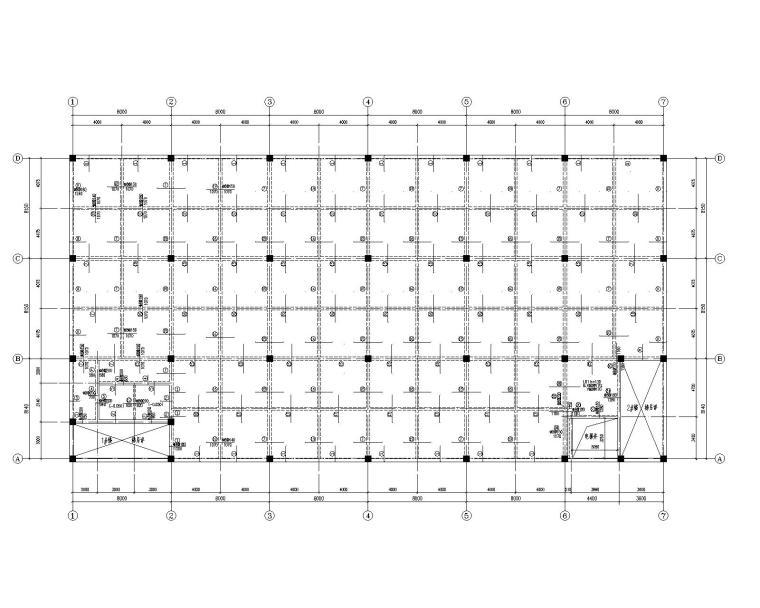 某三层厂房混凝土结构施工图(CAD)