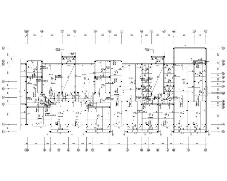 某多层商住混合混凝土结构施工图(CAD)
