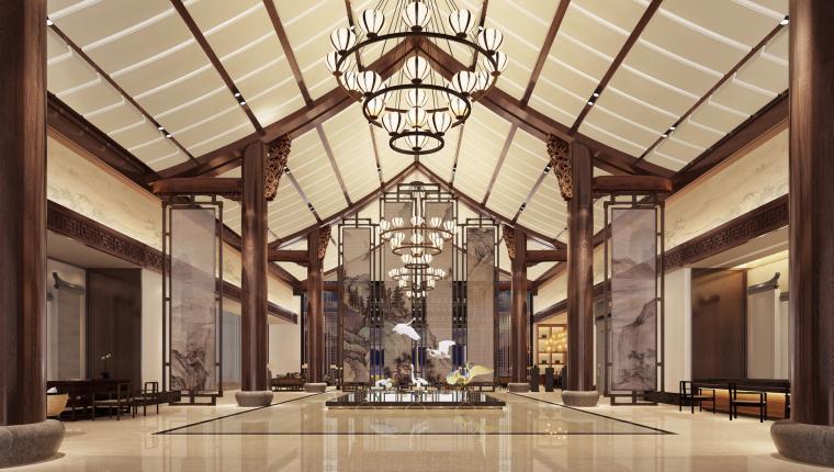 六安苍龙湖新中式度假酒店设计方案+效果图