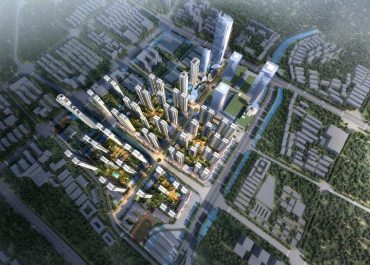[云南]现代住宅办公+集中商业建筑方案