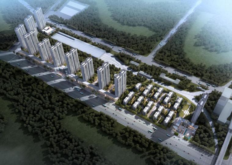 [湖北]现代风生态城高层豪宅建筑方案文本