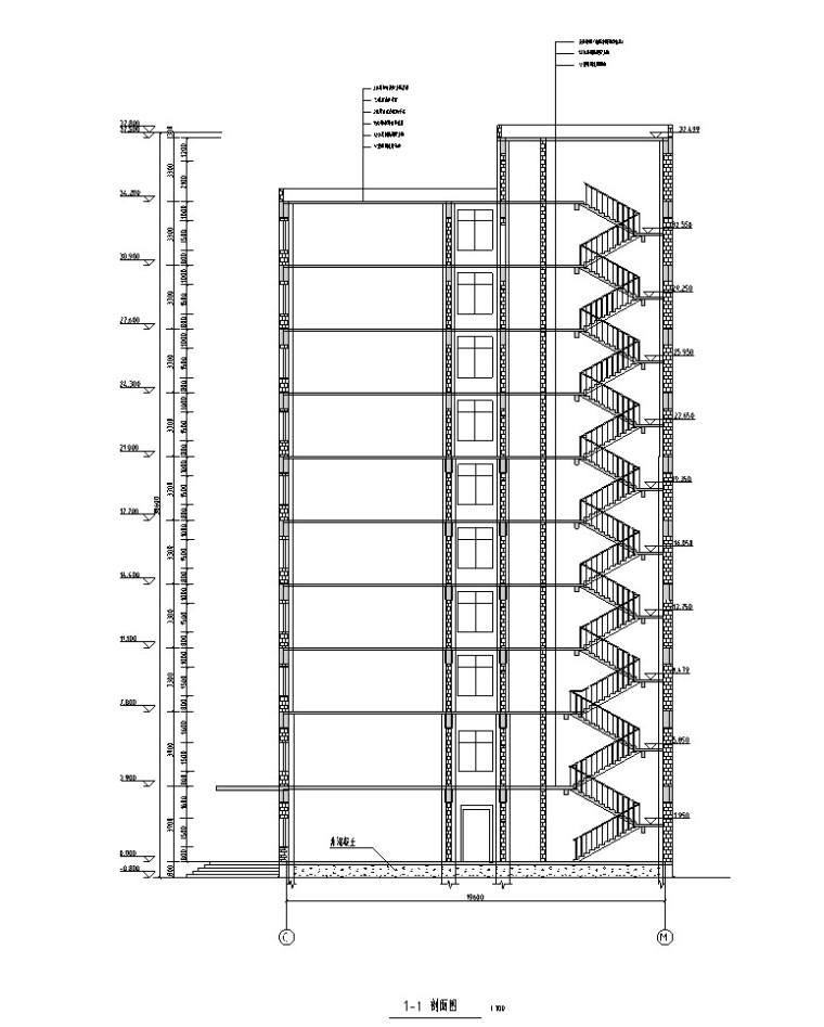 十层框架办公楼毕业设计(含计算书等)