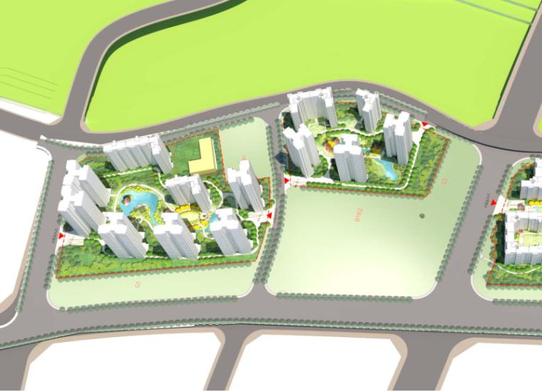 重庆现代风格高层+小高+洋房规划及建筑设计