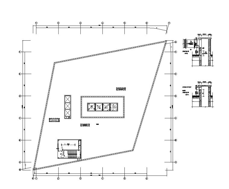 机房层照明平面图