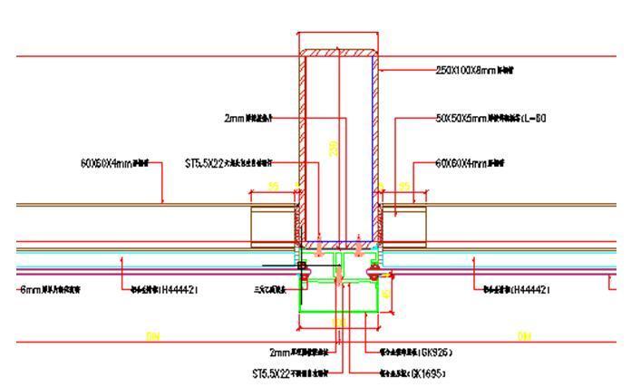 框架结构贸易大厦玻璃幕墙施工方案