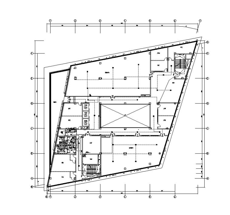 研发中心照明平面图