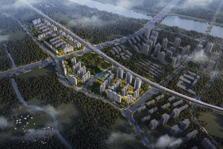 重庆新中式风格高层+小高+洋房住宅建筑方案