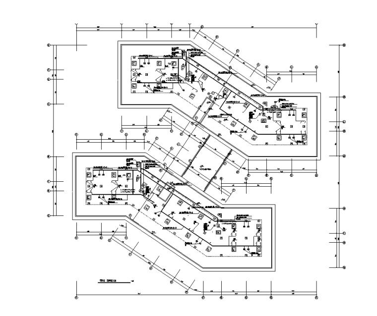 学院宿舍屋顶配电平面图