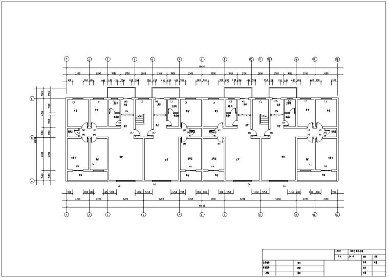 框架结构办公楼设计平面图资料下载-框架结构办公楼毕业设计(含计算书,建筑)