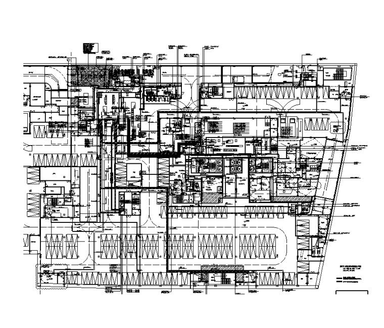 地下一层配电干线平面图