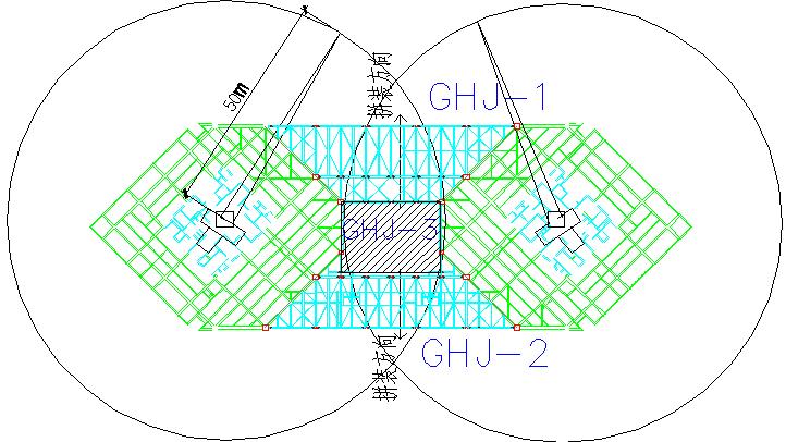 单组桁架拼装分段图