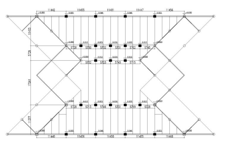 支座平台节点位置图