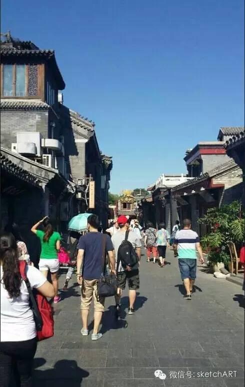 北京烟袋斜街写生_8