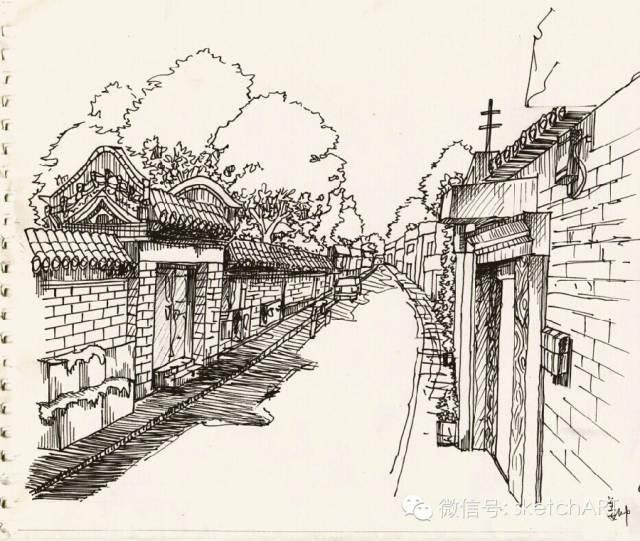 北京烟袋斜街写生_21