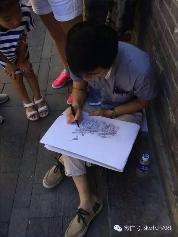 北京烟袋斜街写生_6
