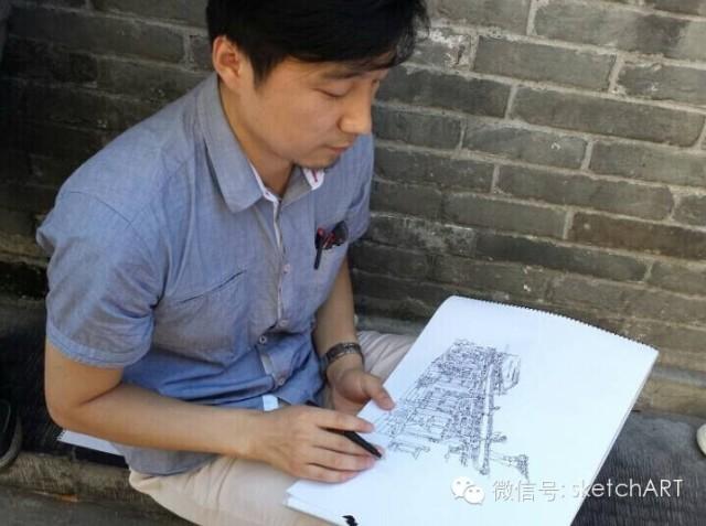 北京烟袋斜街写生_31