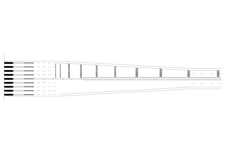 收费广场减速标线设置示例