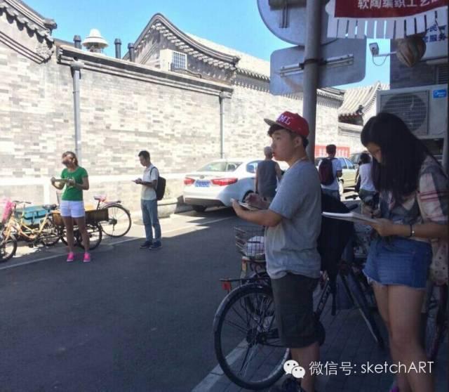 北京烟袋斜街写生_4