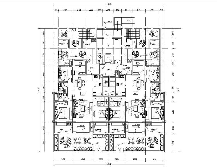 小面宽洋房户型平面图设计