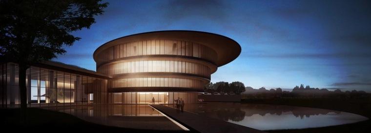 """美术馆设计模型资料下载-安藤忠雄设计的顺德""""和美术馆""""即将落成"""