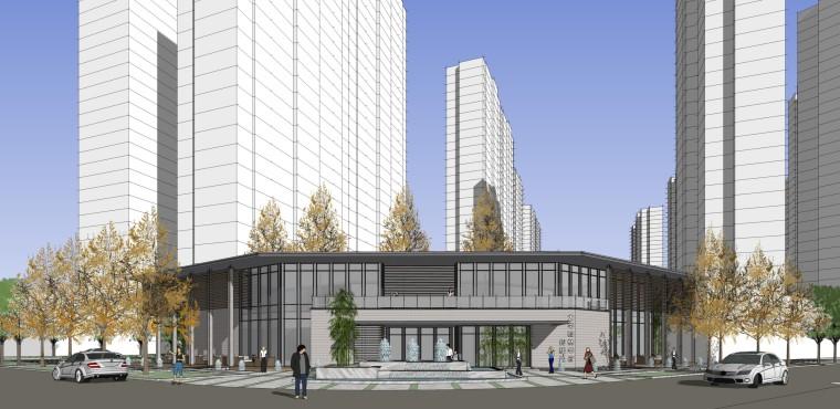 西安新古典风格住宅建筑模型设计 (1)