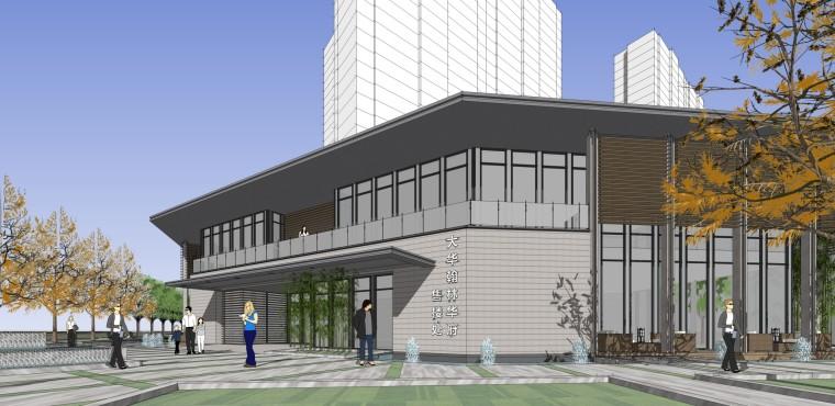 西安新古典风格住宅建筑模型设计 (2)