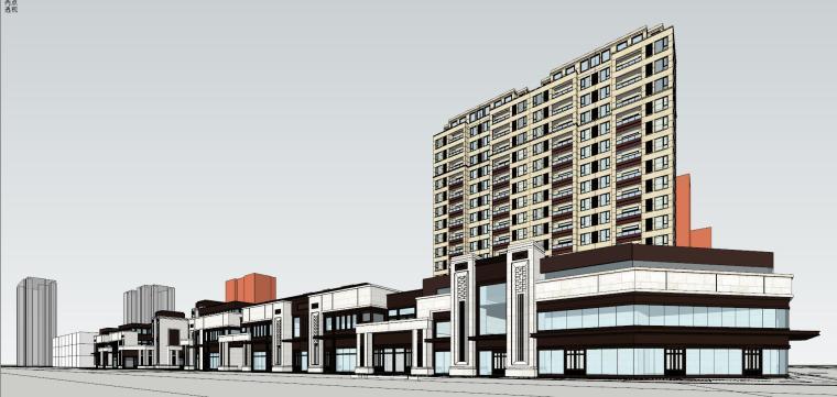 欧陆新古典风格别墅住宅建筑模型设计