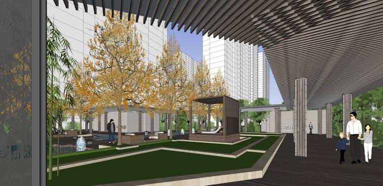 西安新古典风格住宅建筑模型设计 (4)