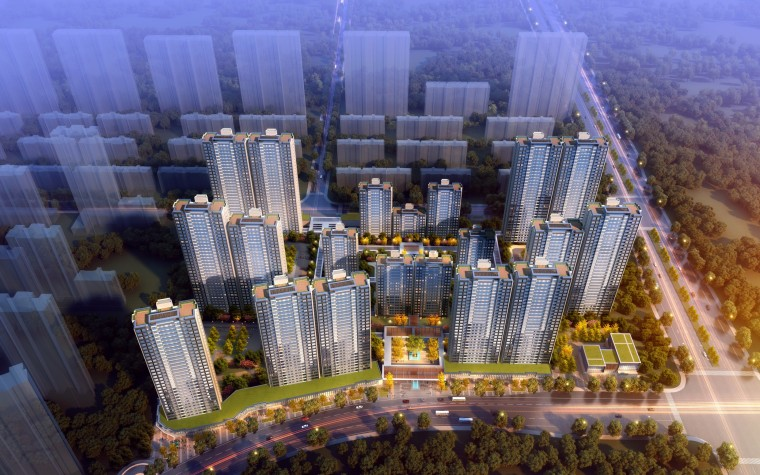 西安新古典风格住宅建筑模型设计 (5)