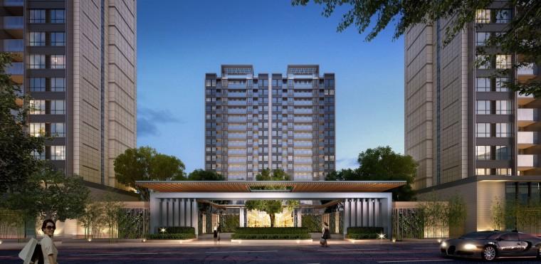 西安新古典风格住宅建筑模型设计 (6)