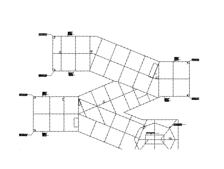 屋顶防雷平面图