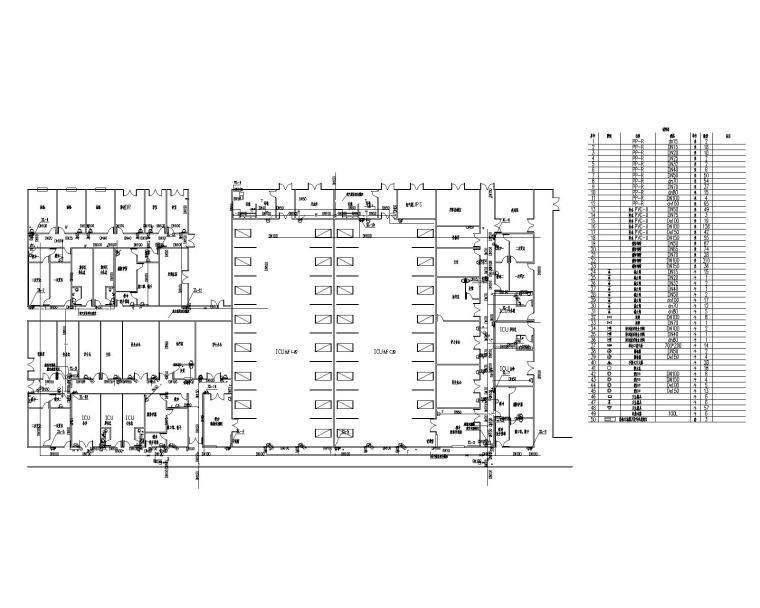 ICU楼一层给排水平面图