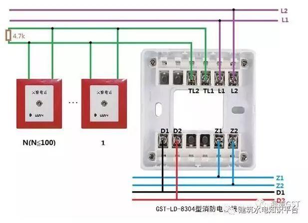 [建议收藏]消防设备全套实物接线图_8