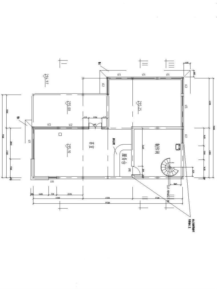 二层索道上部站茶室设计图