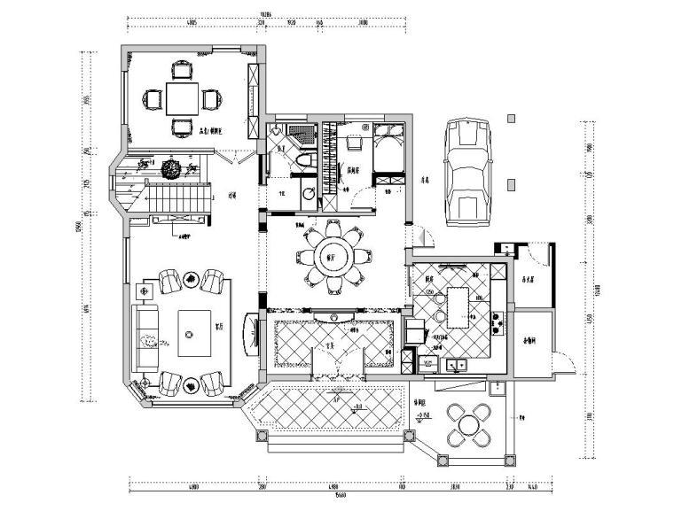 欧式风格万科别墅住宅室内装饰施工图设计